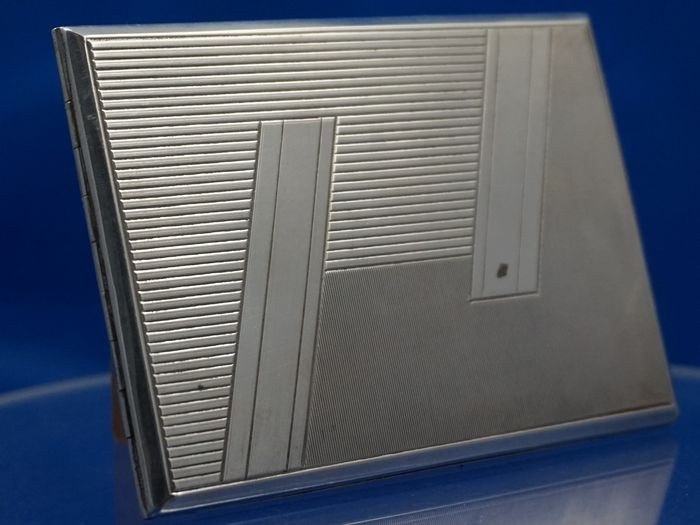 Art Deco Cigarette Case (1) - .900 silver - Italy - First half 20th century