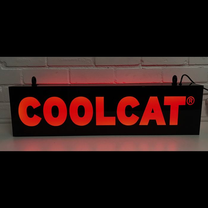Lightbox of Cool Cat. 75 cm wide. - Plastic