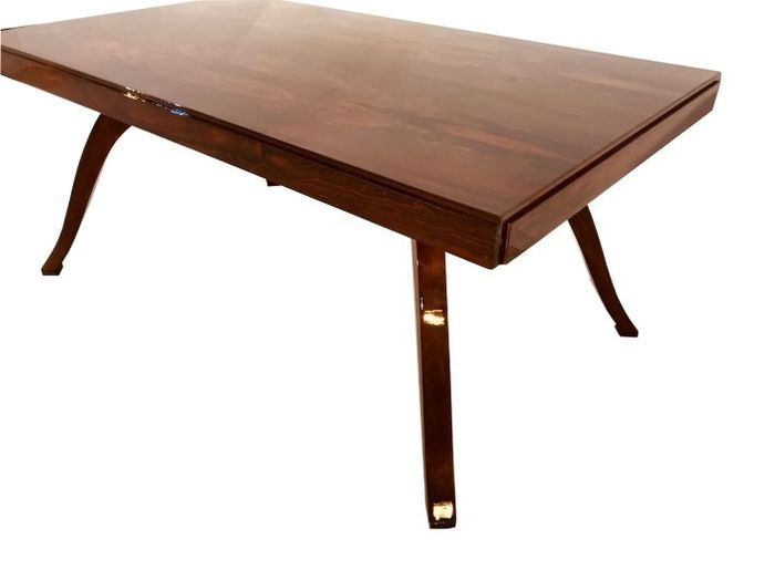 French Art Deco walnut table from 1930