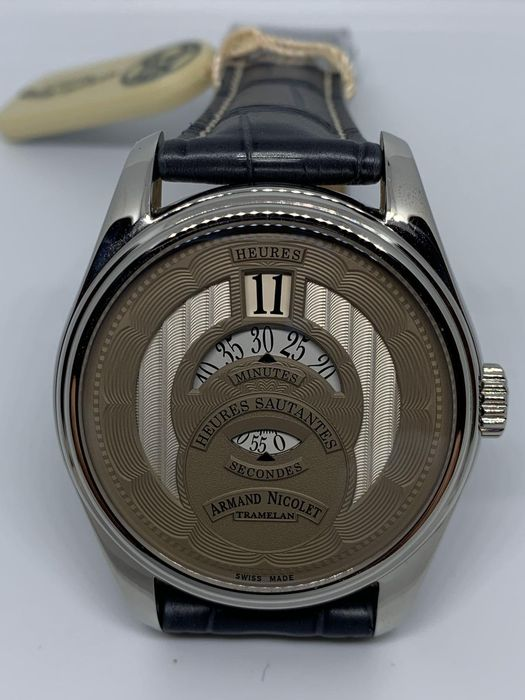Armand Nicolet Jumping Hour Complication - A136-AAA-GR-P974GR2 - Uomo - 2011-presente