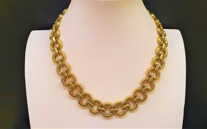 LANVIN Germany gold toned chain link Necklace