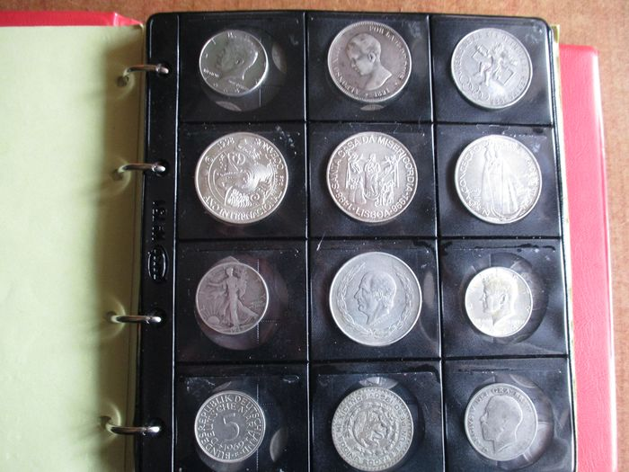 World - Lot various coins 1898/2005 (305 pieces) with 42x silver