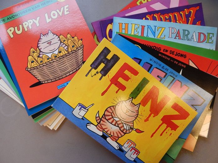 Heinz  1 t/m 17 - plus De Stomme Wereld van Heinz - 10x Oblong - Softcover - First edition - (1988/1998)