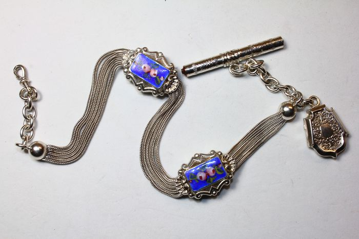Silver - Exclusive Napoleon III watch chain - 1850