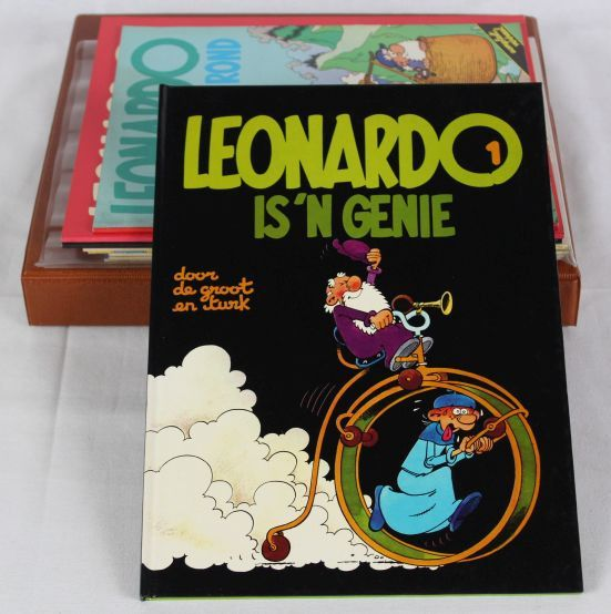 Leonardo - Deel 1 (2x) + 2 + 6 + Map vol EPPO covers en posters - EO - (1978/1986)