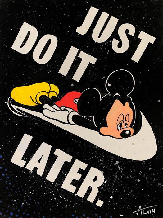 Alvin Silvrants - Disney Mickey Mouse Just Do It Later Nike