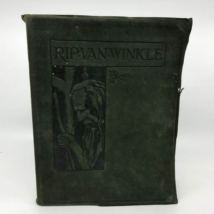Washington Irving / N.C. Wyeth (ill) - Rip van Winkle (Deluxe Suede binding) - 1921