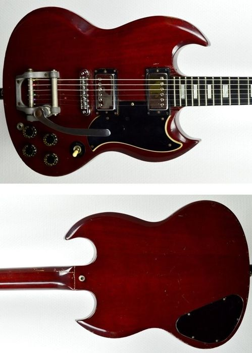 Gibson - GIBSON SG Standard Cherry Bigsby 1975 USA Import - Solid body guitar - USA - 1975