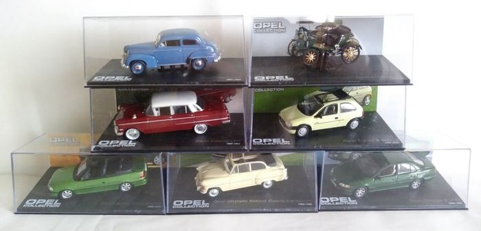 Eaglemoss - 1:43 - Lotto 7  Auto Opel Collection