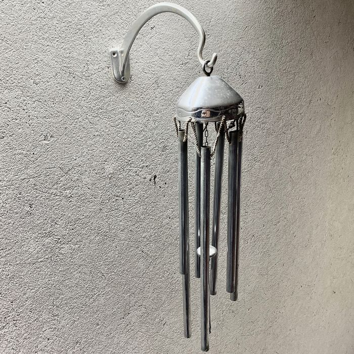Vintage Wind Chimes with 7 Tubes (1) - Metal / Chrome