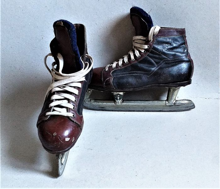 Adolf Dassler - Addas / Hudora - Pair of Ice Skates (1) - Leather, Steel