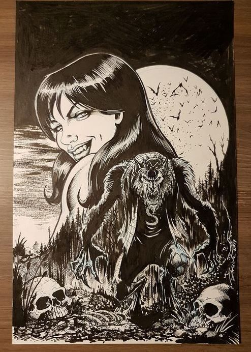 Jughead the hunger Vs Vampironica - Originele cover - Robertson, Darick - . (2019)