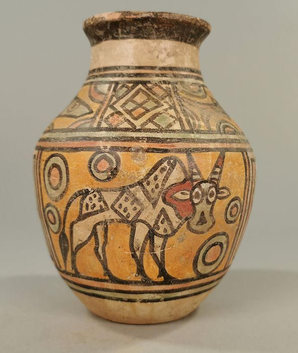 Ancient Indus Valley Terracotta Vessel with Animals Motif