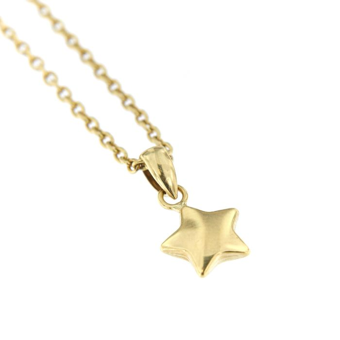 Made in Italy - 18 kt. Yellow gold - Necklace, Necklace with pendant