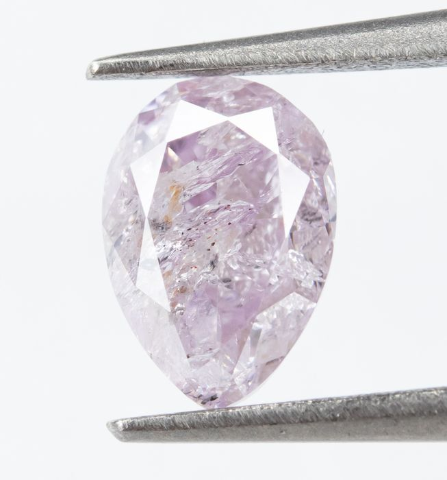 Diamond - 0.62 ct - Natural Fancy Light Purplish Pink - I2  *NO RESERVE*