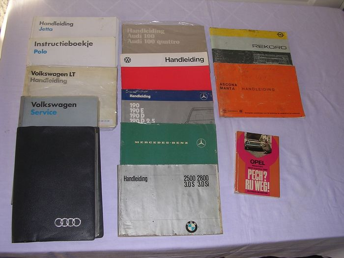 Instruction booklets - Audi -  Volkswagen - Opel - BMW - Mercedes - 1971-1996