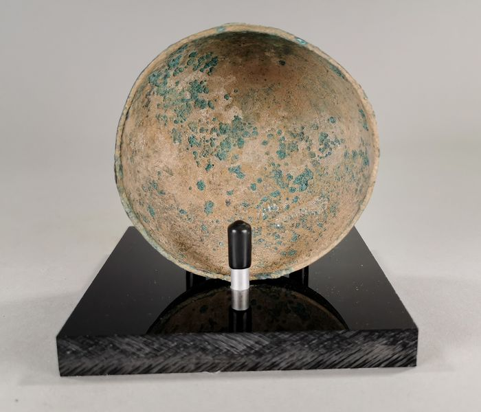 Bronze Age Bronze Bowl with Custom Made Stand