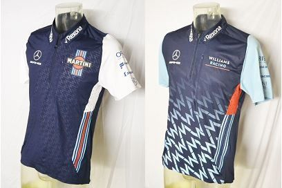 Conjunto de 2 Martini Mercedes Williams F1 Team & Driver Shirt - 2017-2018