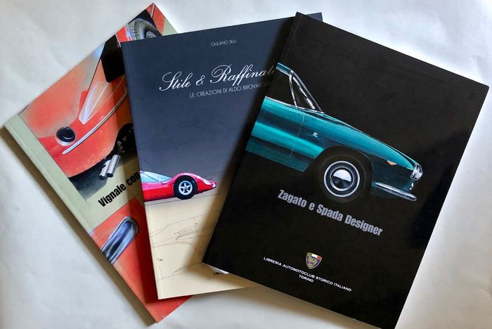 Books - Italian design masters Michelotti, Spada and Brovarone - 3 books - 2009-2015