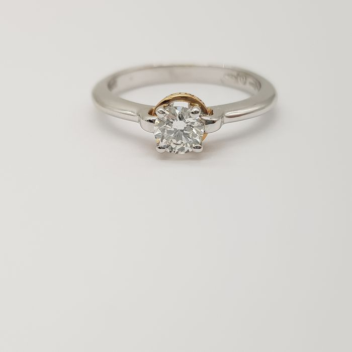 DAMIANI - HRD Certificate - 18 kt. Pink gold, White gold - Ring - 0.45 ct Diamond