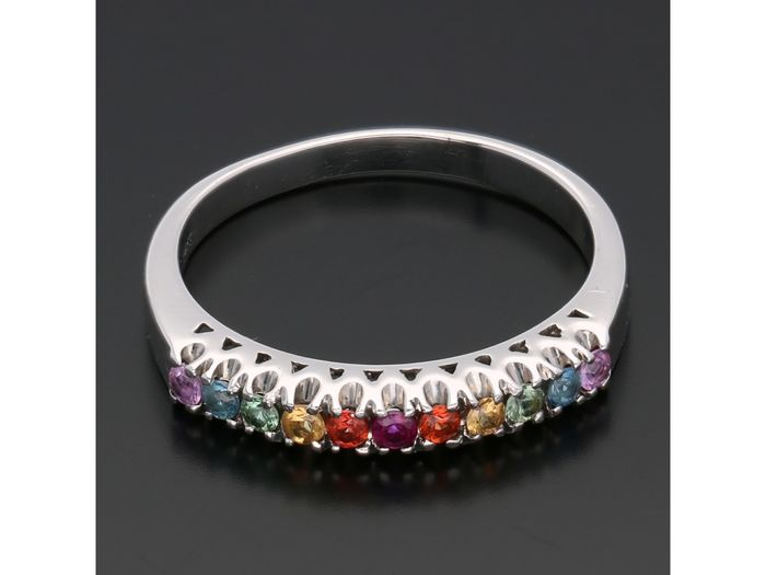 14 kt. White gold - Ring Tourmaline
