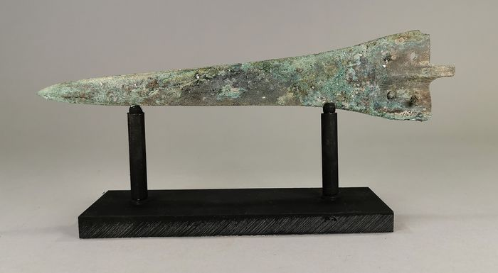 Ancient Greek Period Bronze Dagger on Custom Made Stand