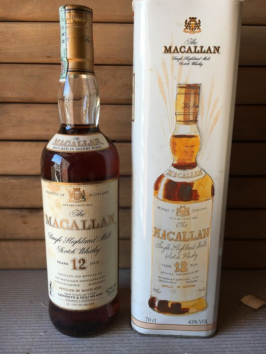 Macallan 12 years old Sherry Pedro Ximenez - b. 1980s - 70cl