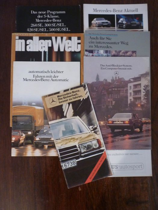 Brochures / catalogues - Mercedes-Benz - Mercedes-Benz W123, W124, 190, R129 and other brochures - 1973-1993
