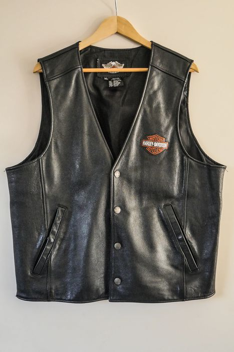 Original Harley Davidson Leather Vest - Gillet -  Superb - Harley Davidson - 2009