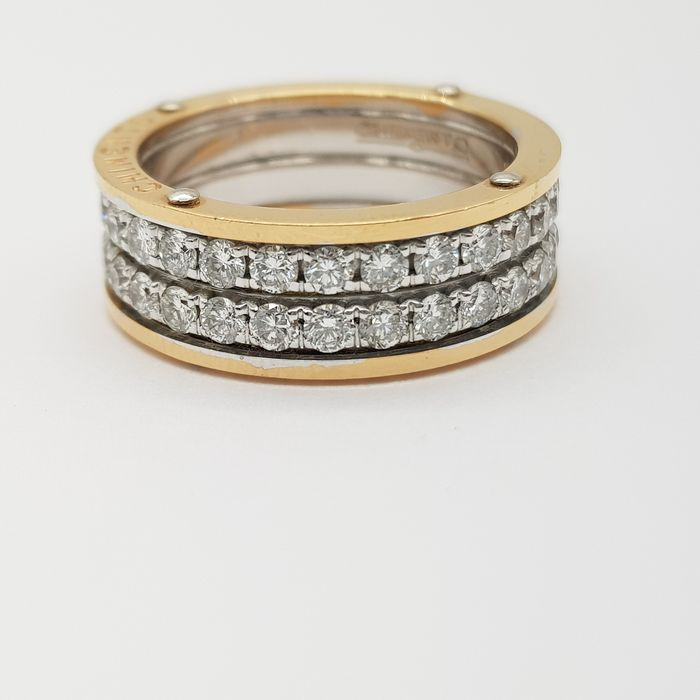 HRD Certificate - no reserve price - 18 kt. Pink gold, White gold - Ring - 1.93 ct Diamond