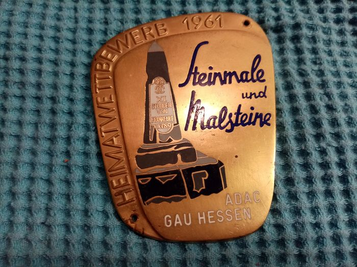 Insignia - veteran rallye ADAC Plakette Car Badge Rally Emblem Medaille Automobile club Grand Prix - 1961-1961