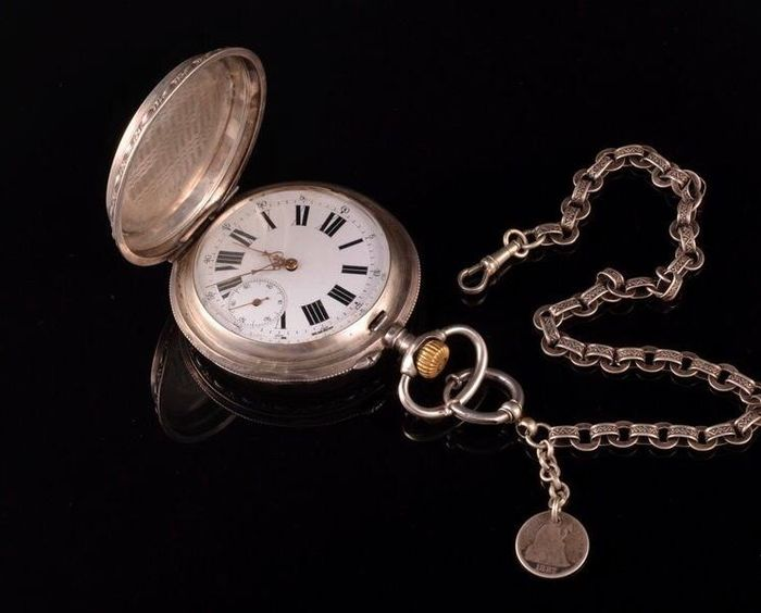 Massive Hunter pocket watch - Hombre - 1850 - 1900