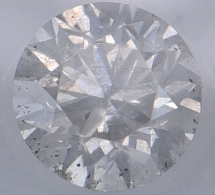 1 pcs Diamond - 0.53 ct - Round - I - I1, No Reserve Price!