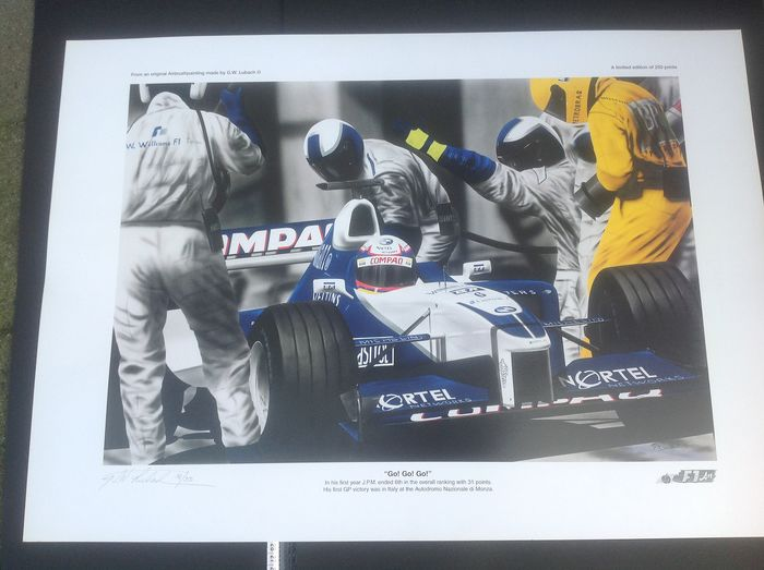 Aisbrus painting made by G.W. Lubach F1 Team Williams GO! GO! GO! 6th in the first in his first - BMW