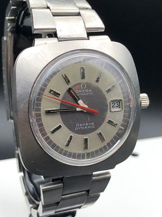 """Omega - Rare SQUARE Geneve Dynamic - Automatic  565 - """"NO RESERVE PRICE"""" - Heren - 1970-1979"""