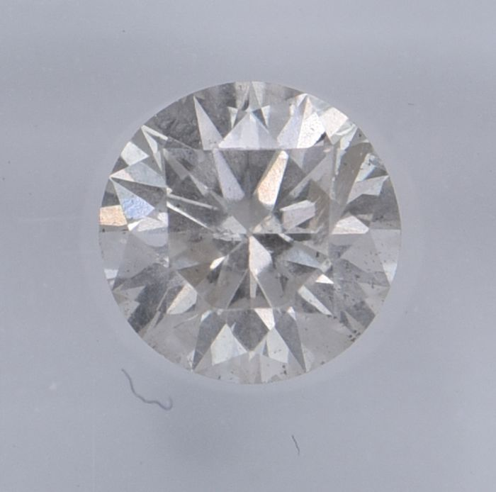 1 pcs Diamant - 0.66 ct - Rund - J - SI3, No Reserve Price!