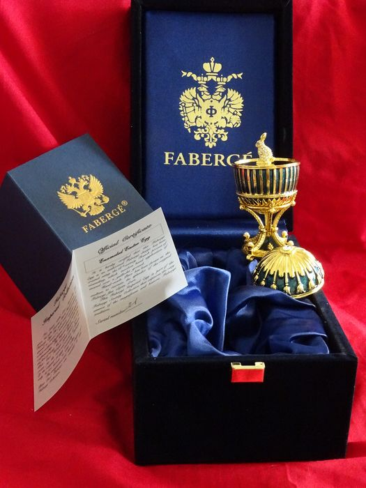 Faberge egg Imperial - Original - Fabergé - Certificate of Authenticity -COA - Numbered - authentic - 24 Carat Gold finished, Completely Hallmarked
