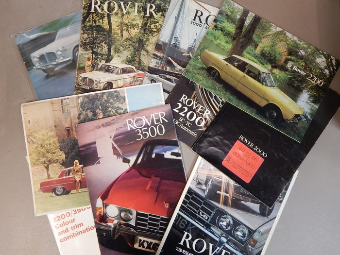Brochures / catalogues - Rover 2000 - 2200 - 3500 - 3 1/2 Litre (10 items) - 1960-1980
