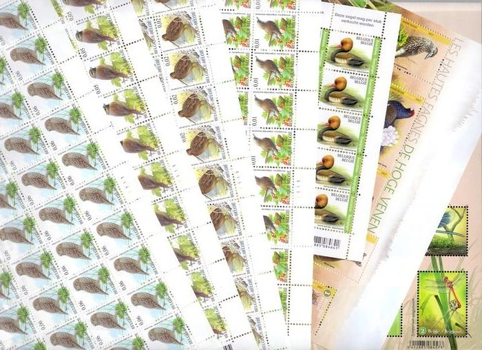 Belgium 1995/2009 - Group of stamps, booklets and sheets with birds and animals by, amongst others, Buzin - OBP / COB