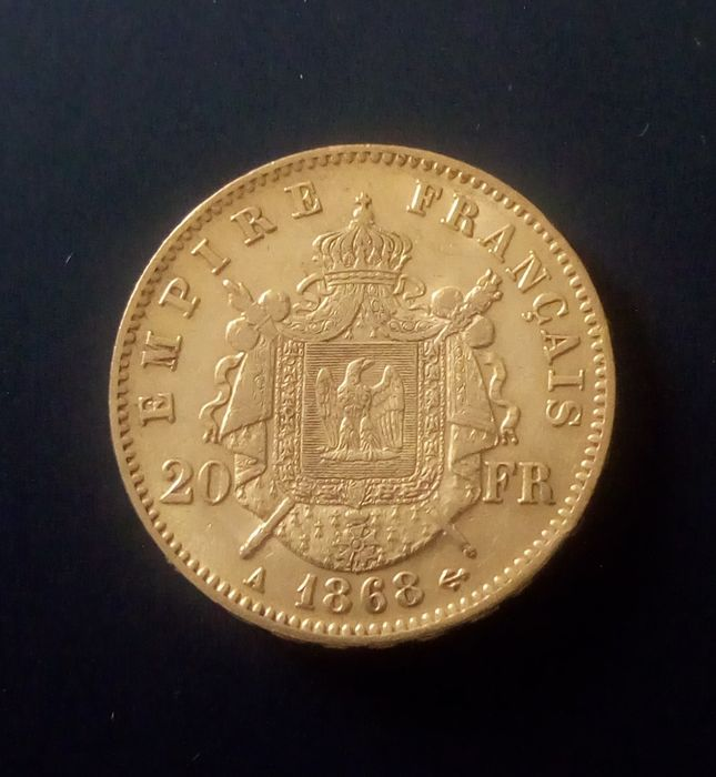 20 Francs 1868-A Napoléon III  - Or