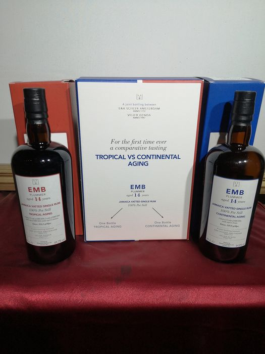 Monymusk 14 years old Velier - EMB Plummer Tropical vs Continental ageing - 70cl - 2 bottles