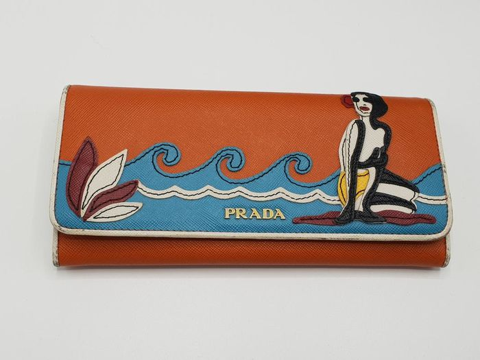 Prada - Beach Bluette Wallet Handtas