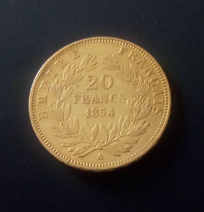 20 Francs 1854-A Napoléon III - Or