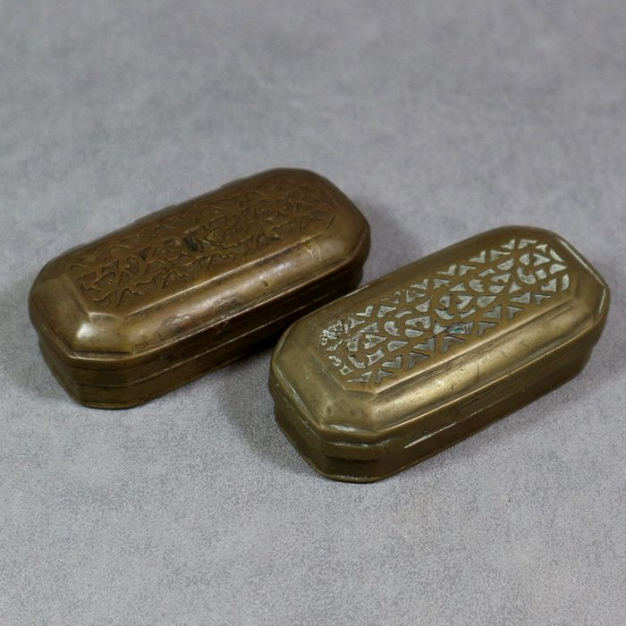 Sirih boxes, Collection dr. H.H. Dingemans (1907-1985) (2) - Brass - Indonesia