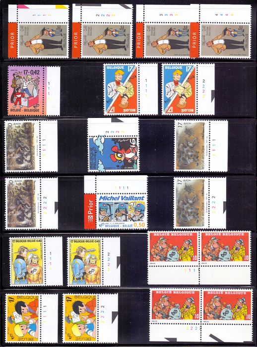 Belgium 1987/2009 - Large lot with comics heroes, with many themes, Tintin - OBP .