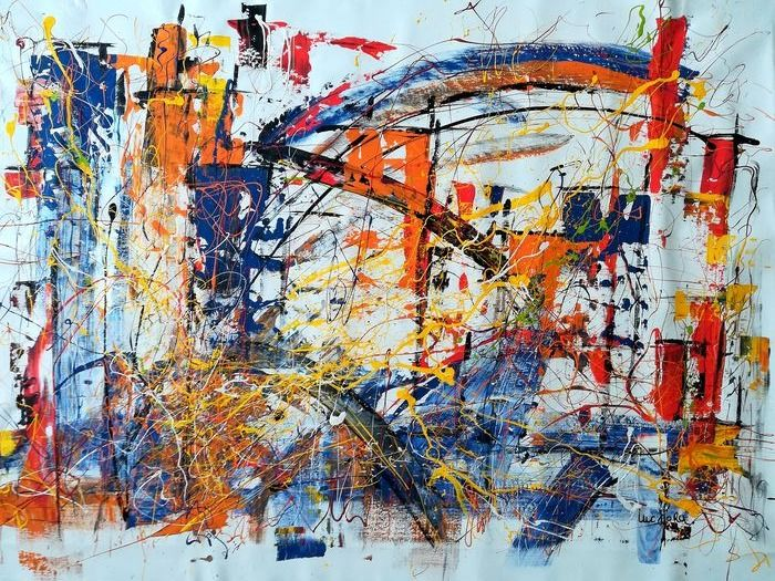 Luc Mora  - Abstract couleur 0153 ( 145-95 cms)