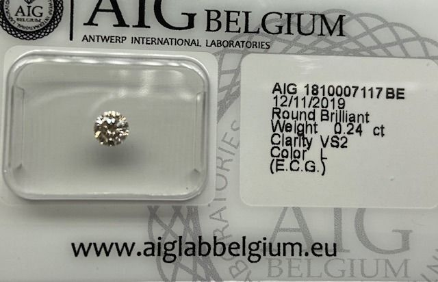 Diamond - 0.24 ct - Briliant, FĂRĂ REZERVARE - L - VS2