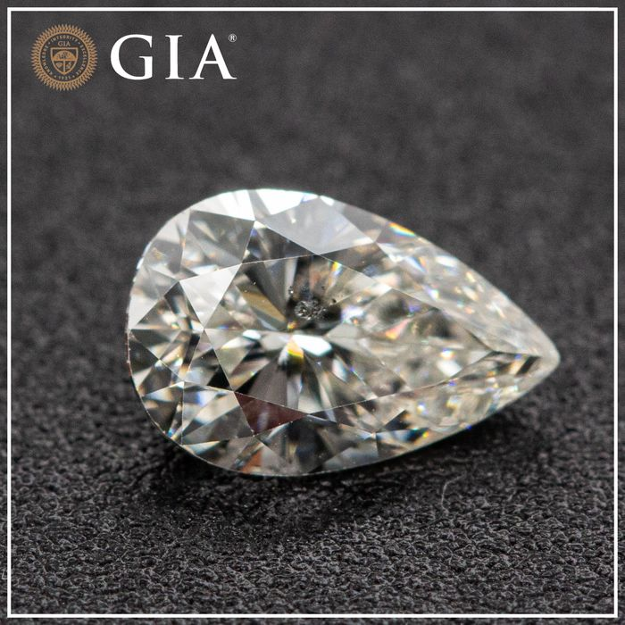 Diamant - 0.71 ct - Poire - J - SI2, GIA - No Reserve Price