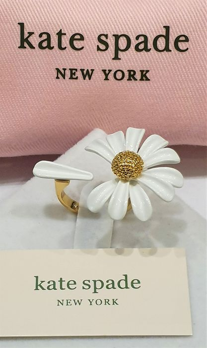 "KATE SPADE - New York Anillo ""Into the Bloom"" chapado en oro de 18kt"