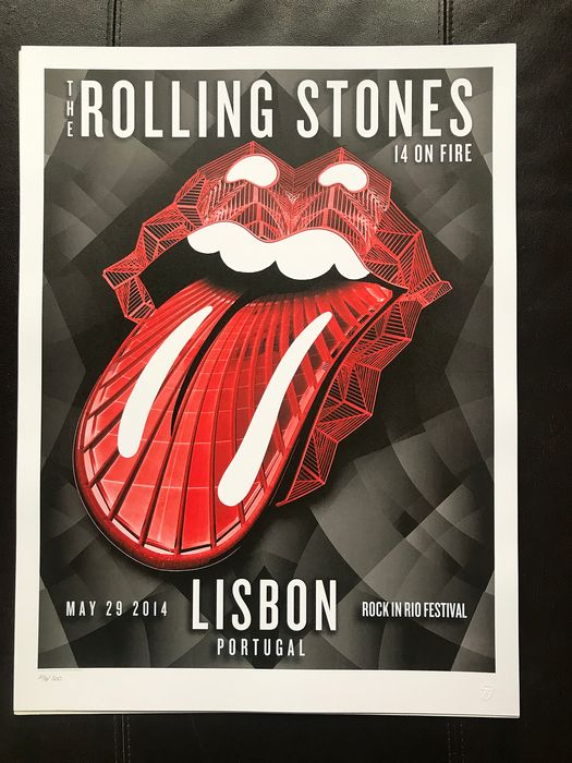 Rolling Stones - 14 on fire tour 2014-number 296/500 - Multiple titles - Lithographie originale - 2014/2014